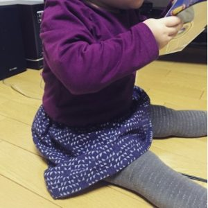 子供と直線縫いの手作り服で簡単スカート
