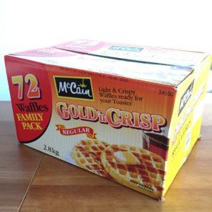 コストコの冷凍ワッフル72枚入りが美味しくて調理簡単!