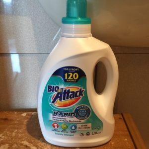 コストコで売っている洗濯洗剤バイオアタックラピッドは濃縮タイプで230回も洗える!