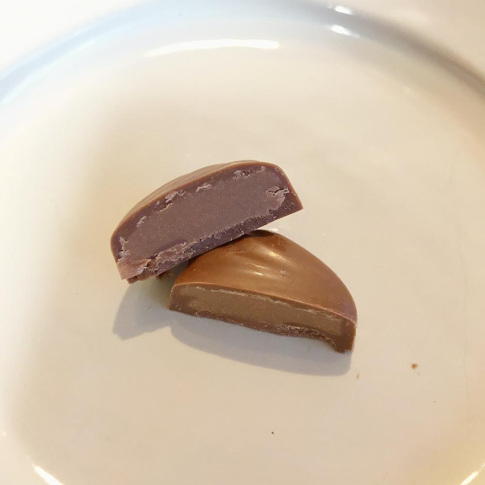 ミルクチョコレートヘーゼルナッツの中身